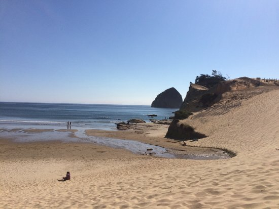 Pacific City, OR: at the bottom of the dune