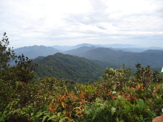 view from the peak of Gunung Besar Hantu