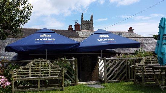 Gorran, UK: View from Pub Garden