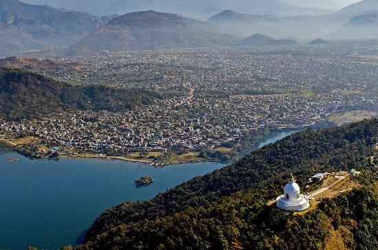 Aerial view of Pokhara City