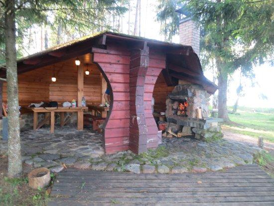 Zarasai, Lithuania: Уголок для шашлыков