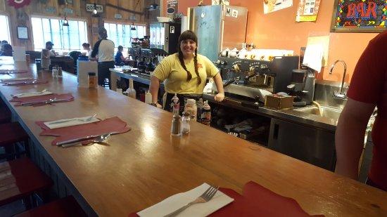 Sugar Hill, NH : New espresso bar with Danielle...