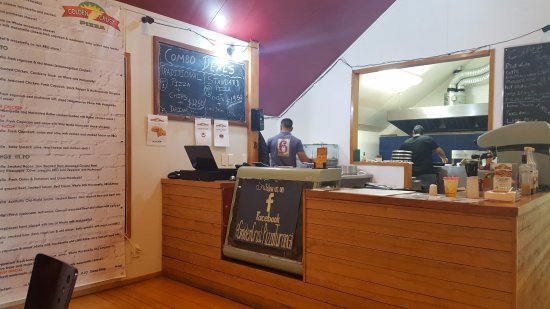 Turangi, Selandia Baru: Inside the Golden Crust Restaurant (Cooking Area)
