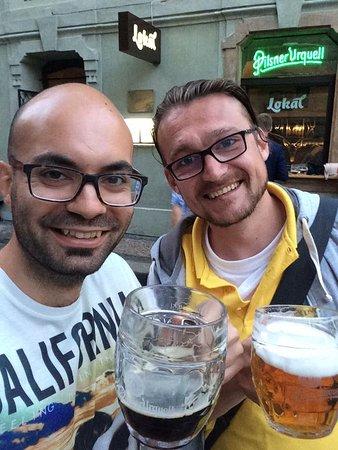 Discover Prague Tours : Me and Tomas enjoying a post-tour beer!