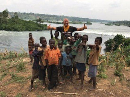 Jinja, Uganda: In front of the River Nile. Amazing scenery!