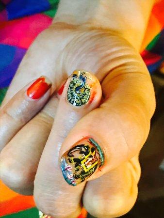 Beautiful Nail Art With Water Colour Picture Of Ashoka Arts
