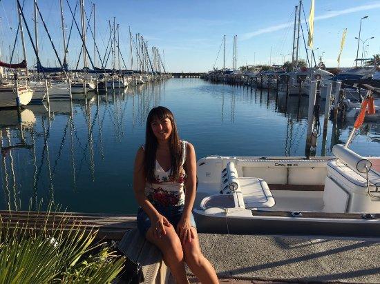 Palavas-les-Flots, France : me at the port