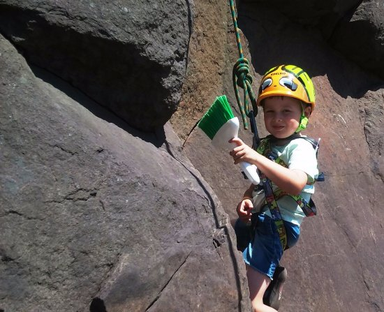 Silver Bay, MN: Everyone can rock climb. And they can clean the cliff  too. It is part of the climbing ethic.