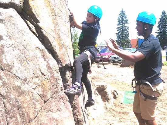 Silver Bay, MN: Rock climb with ropes or boulder with staff or parent support