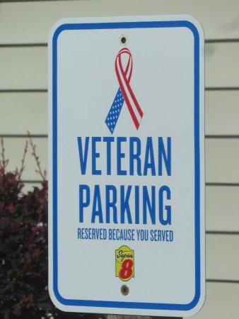 เกรย์ลิง, มิชิแกน: Designated Veteran's parking space