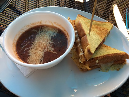 Wallace, ID: Gourmet grilled cheese and tomato soup