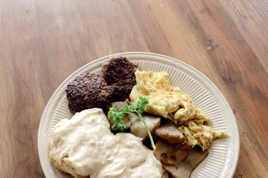 Johnson City, TN: The Little Chicago Plate Comes with biscuits and gravy, eggs, skillet potatoes and a protein!