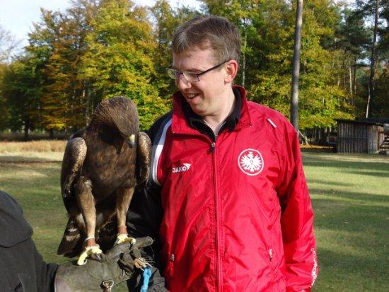 Niedernhausen, Niemcy: Besuch bei Atilla dem Maskotschen von Eintracht Frankfurt! Auch ein Regionaler Hintergrund!