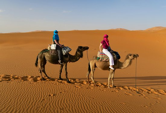 Moroccan Active Adventures : Heading to our campsite in the Sahara Desert