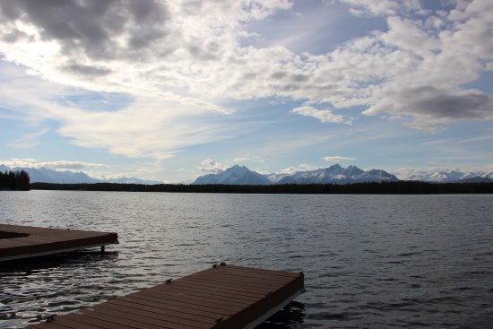 """Wasilla, AK: Dock view (""""I can see Russia from here""""...Sarah Palin's house is 2 docks down)"""