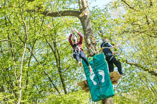 Fey, France : 7 parcours dans les arbres de 6 à 77 ans !