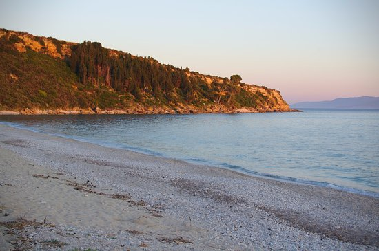 Lourdata, Yunani: Lourdas beach in the evening