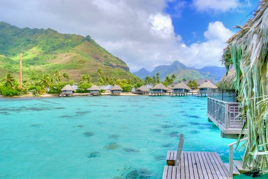 Panorama Dal Bungalow 71 Picture Of Hilton Moorea Lagoon