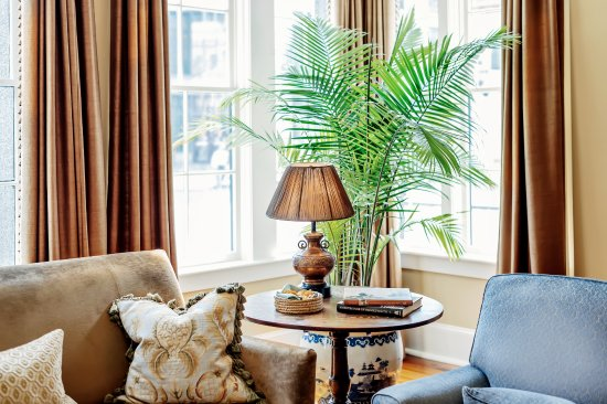 The Planters Inn parlor overlooks the very heart of Historic Charleston.