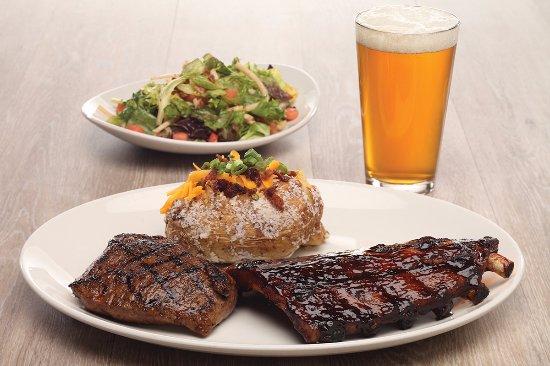 Niles, OH: Combo Platter - Ribs & Steak