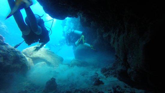 Koloa, HI: exploring the Caverns.