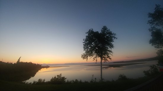 New Edinburgh, Canadá: Sunset from the deck.
