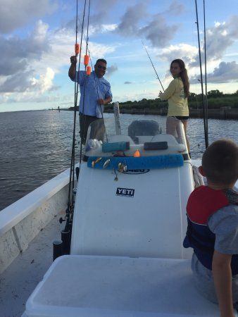 Barataria, LA: The best fishing trip ever. Capt Colby put us on the Reds.