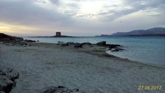 La Pelosa Beach: La Pelosa al tramonto