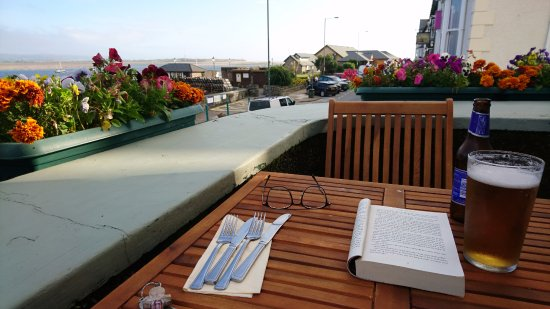 Aberdyfi (Aberdovey), UK: Dinner on The Balcony