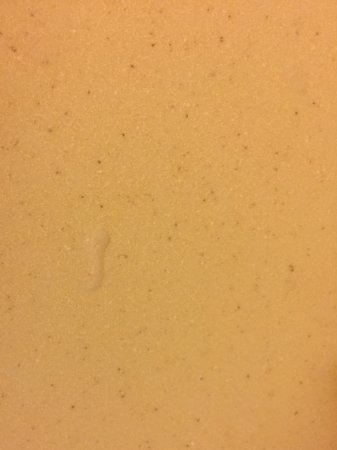 Kankakee, IL: Dried soap scum left in the shower. Taken on arrival at hotel.