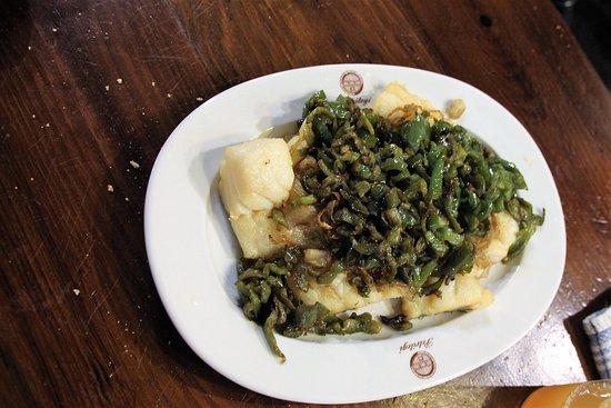 Sagardotegia - Sidreria Donosti: Eine der Speisenfolgen