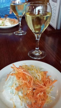Monte Vista, CO: Wedge salad (with a little-too-much dressing)