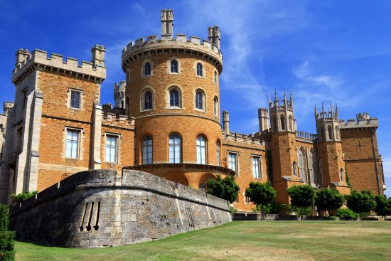 Belvoir Castle: Front of the castle.