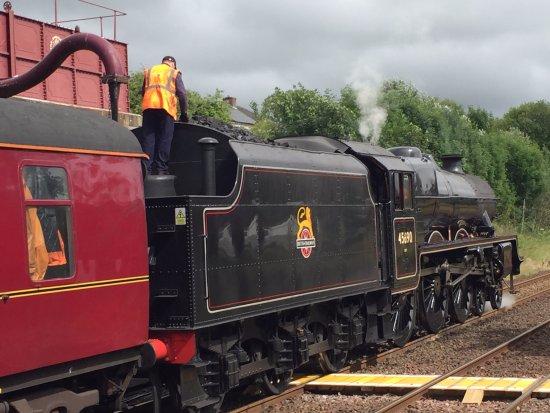King's Lynn, UK: Steam train water stop