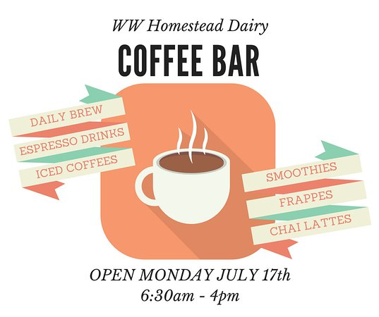 ‪‪Waukon‬, ‪Iowa‬: Our coffee bar features locally roasted coffees and our cream line milk.‬