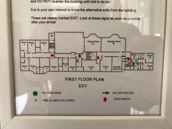 Hotel First Floor Plan - Foto de Taplow