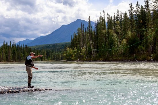 Golden, Canadá: Enjoy a guided fishing tour.