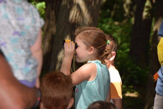 Bellevue, NE: My granddaughter was bird watching.
