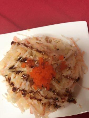 Princeton, WV: Kani salad & fried cheese cake