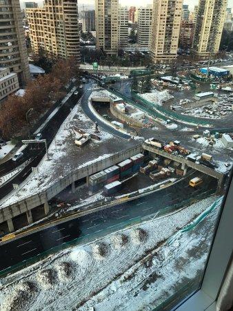 Vista despues de 30 años que no nevaba en Santiago Capital
