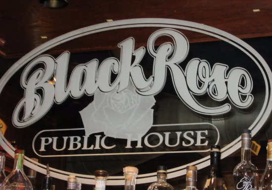Black Rose Pub: Bar mirror