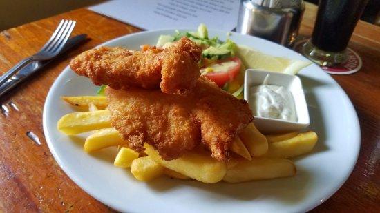 Kilfenora, Ireland: The fish and chips