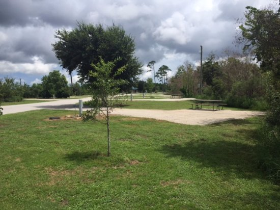 Campsite at Gulf State Park Campground