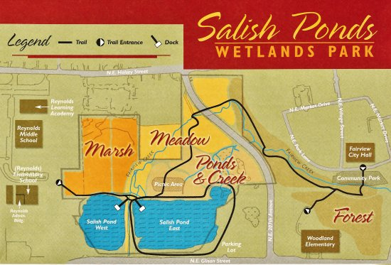 Fairview, Oregón: Map of Salish Ponds area