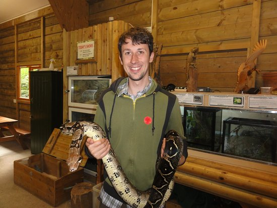 Manaton, UK: James with a constrictor