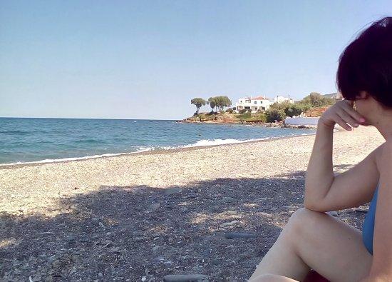 Maneas Beach Hotel: Στην παραλία ακριβώς μπροστά από το ξεδοχείο