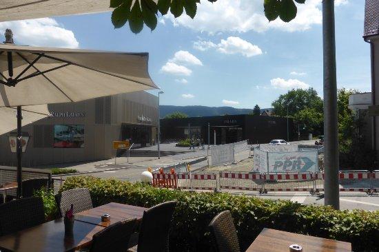 Metzingen, Germany: Blick von der Terrasse