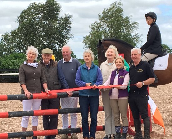 Clonshire Equestrian Centre: Ribbon cutting for new arena with the board.
