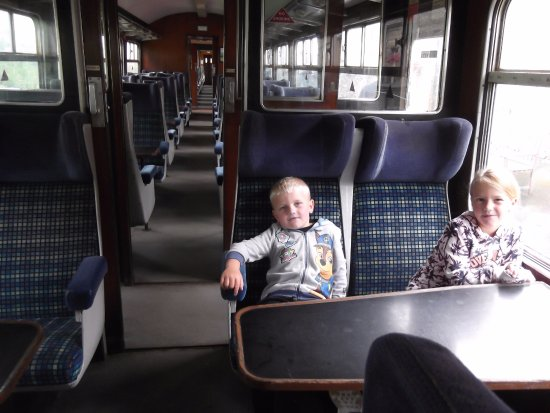 Leeming Bar, UK: inside one of the old coaches