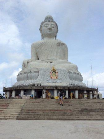 Chalong, Thailandia: Big Buddha half way up the steps.